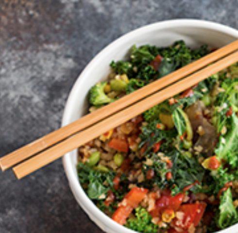 Edamame Cauliflower Rice Stir-Fry