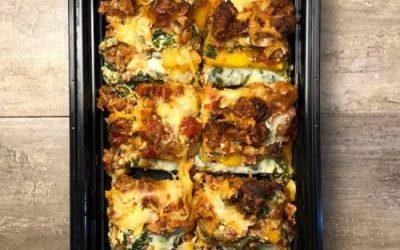 WW Turkey Spinach Lasagna