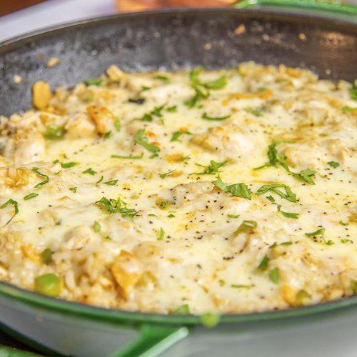 Chicken Brown Rice Enchilada Skillet