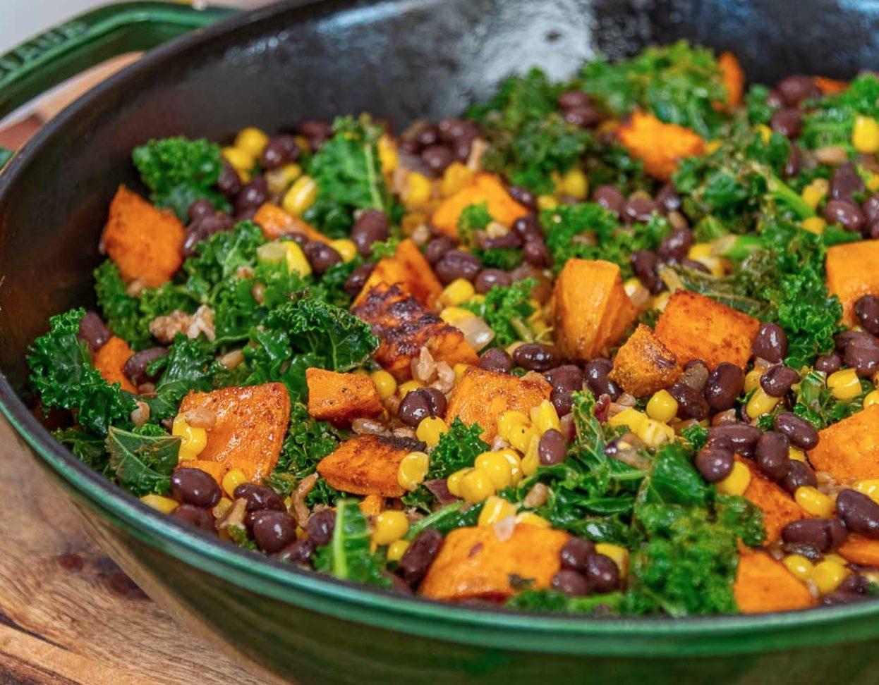 TexMex Kale & Sweet Potato Bowl