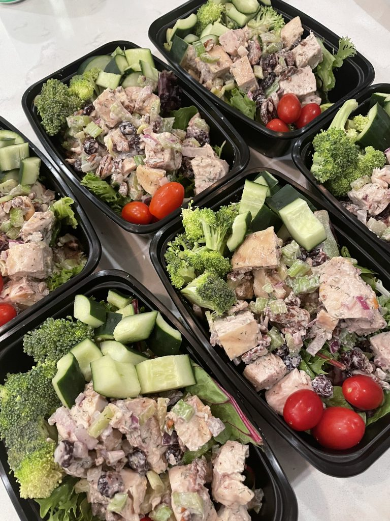 Loaded Chicken Salad w Mixed Greens