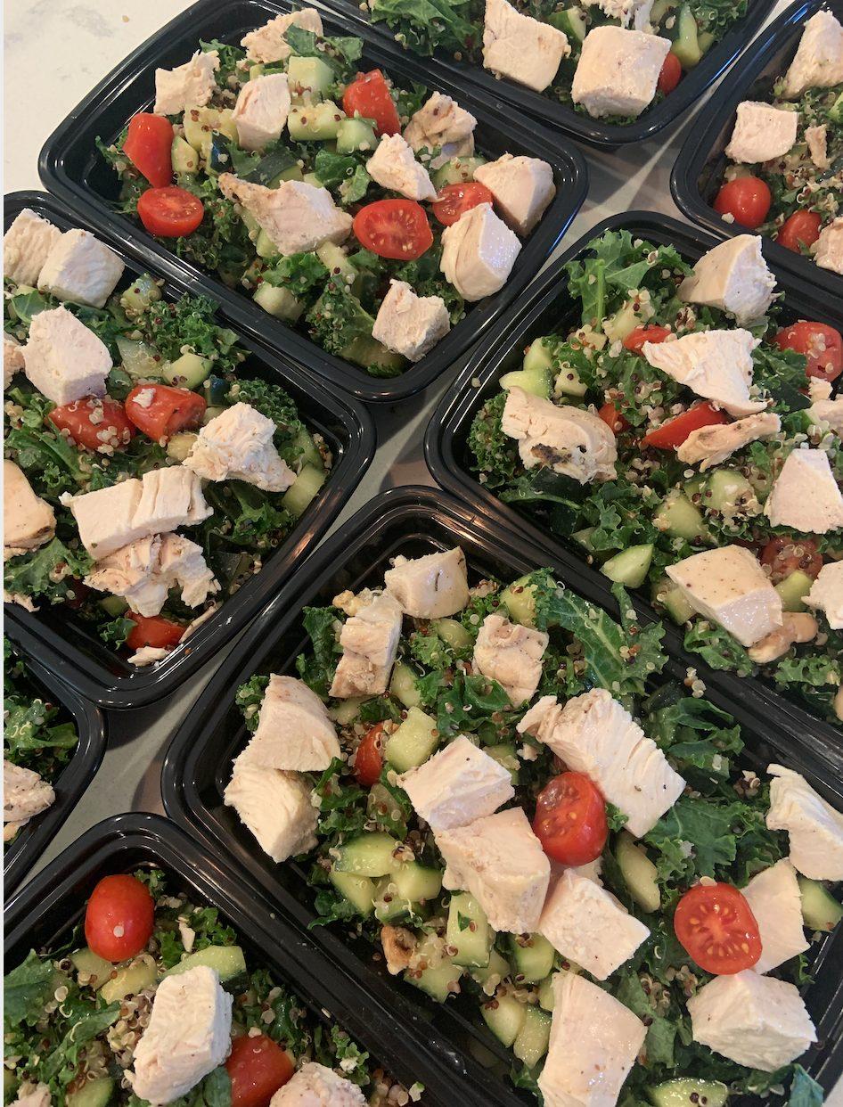 Chicken Kale Tabouli Salad