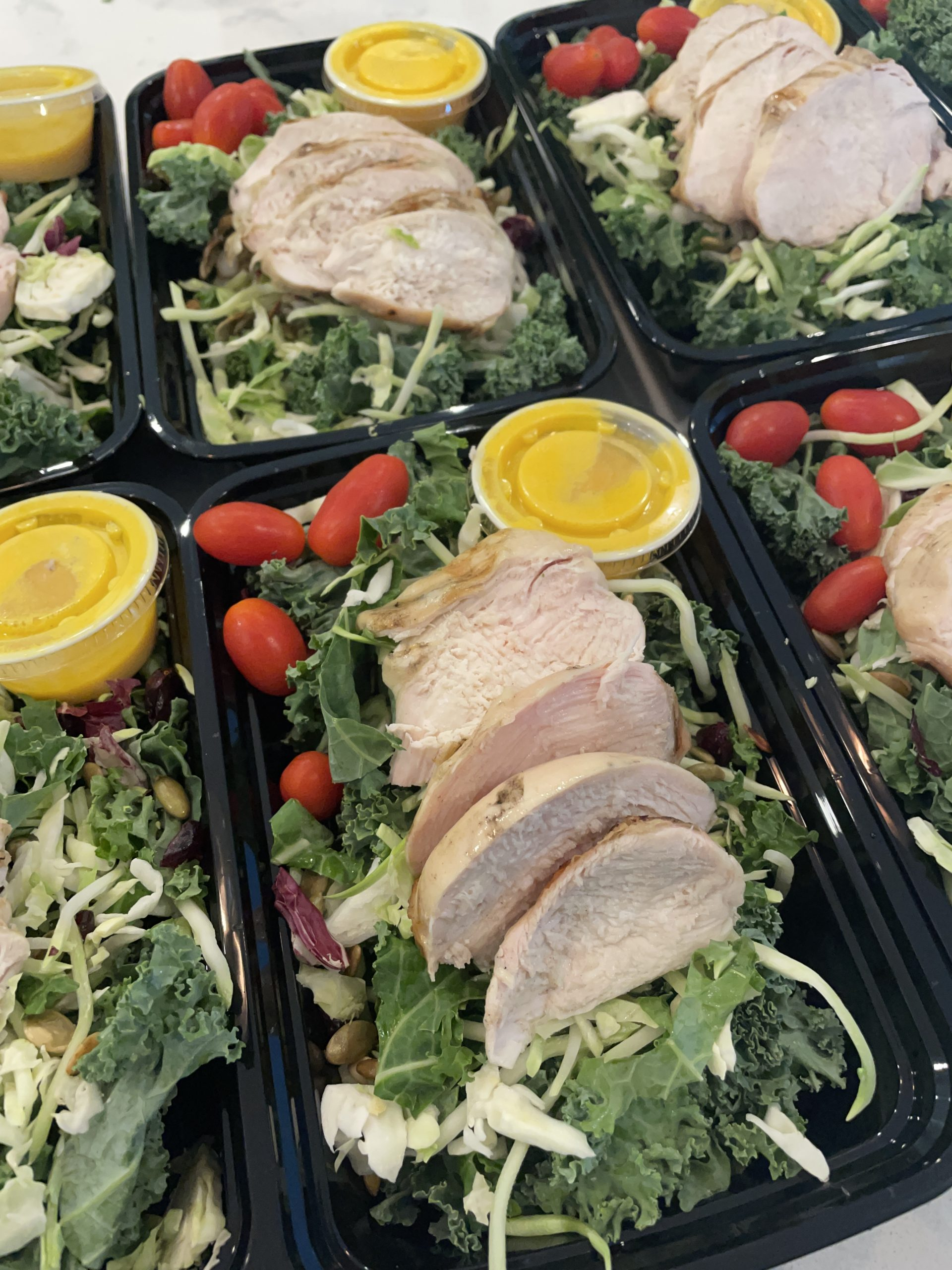 ITRUS KALE SALAD WITH BAKED CHICKEN RECIPE