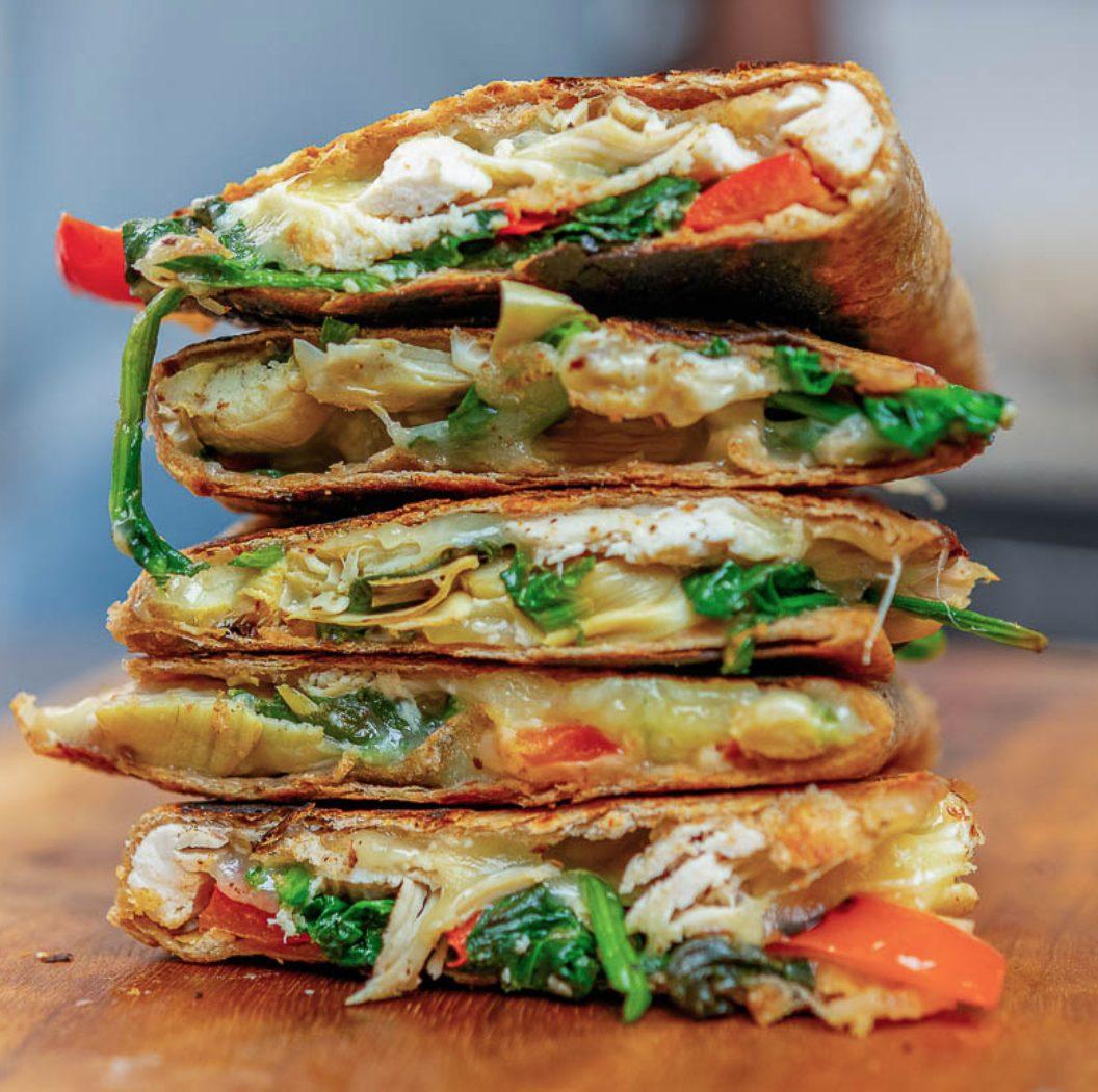 Spinach Artichoke Chicken Quesadilla